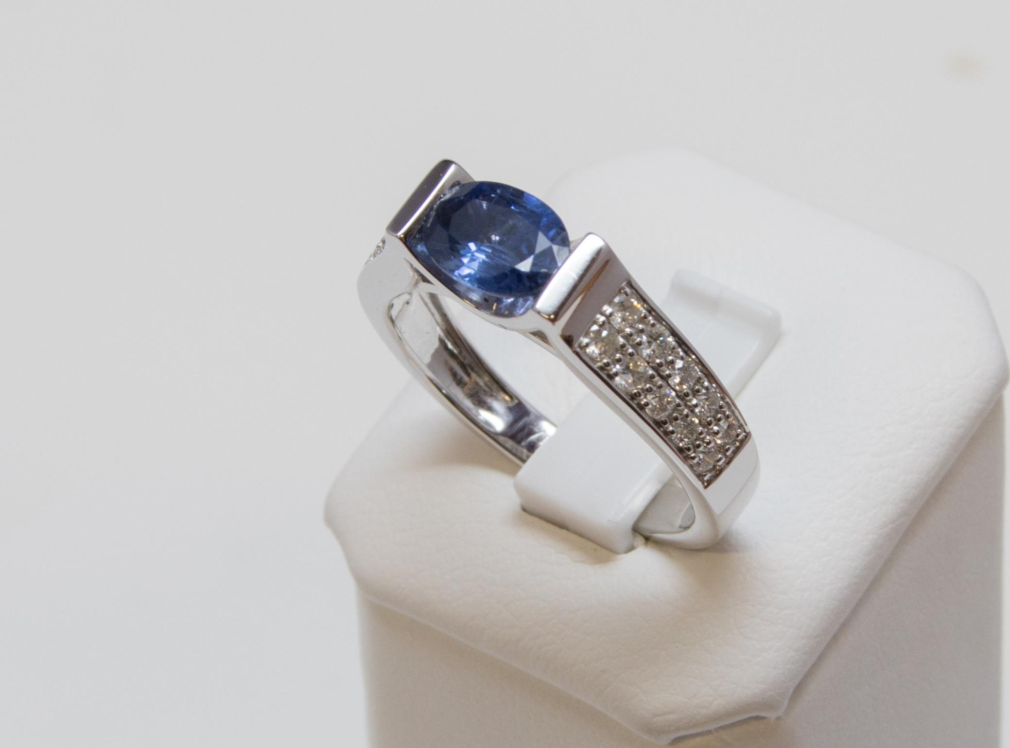 bague diamant et saphir